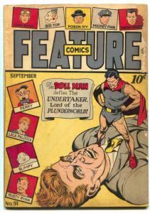 Feature Comics #91 1945- DOLL MAN-undertaker G