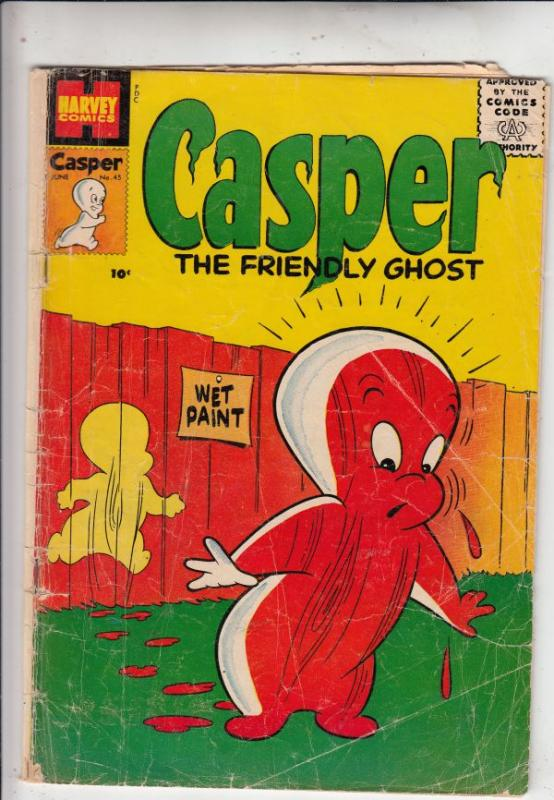 Casper the Friendly Ghost #45 (Jun-56) GD Affordable-Grade Casper, Spooky, We...