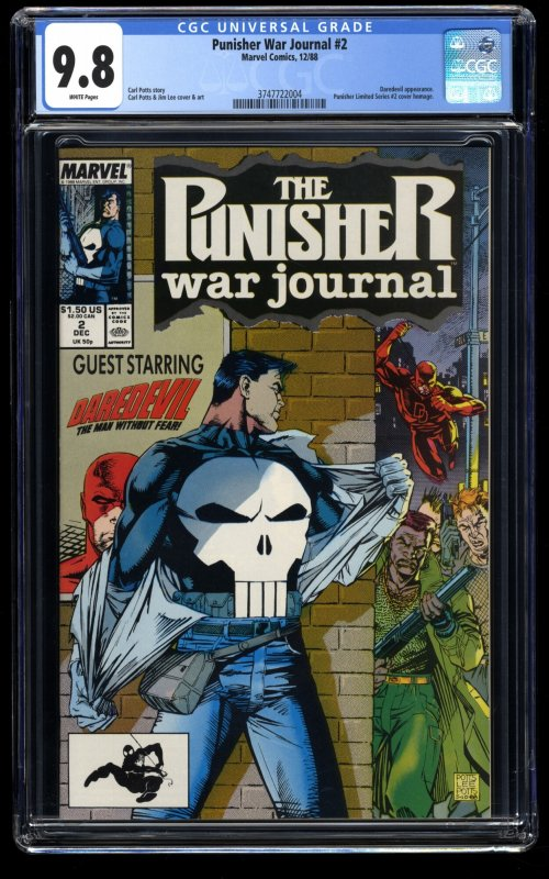 Punisher War Journal #2 CGC NM/M 9.8 White Pages