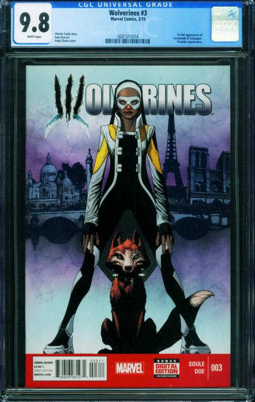 Wolverines #3 CGC 9.8 1First FANTOMELLE and CULPEPPER.2001511012