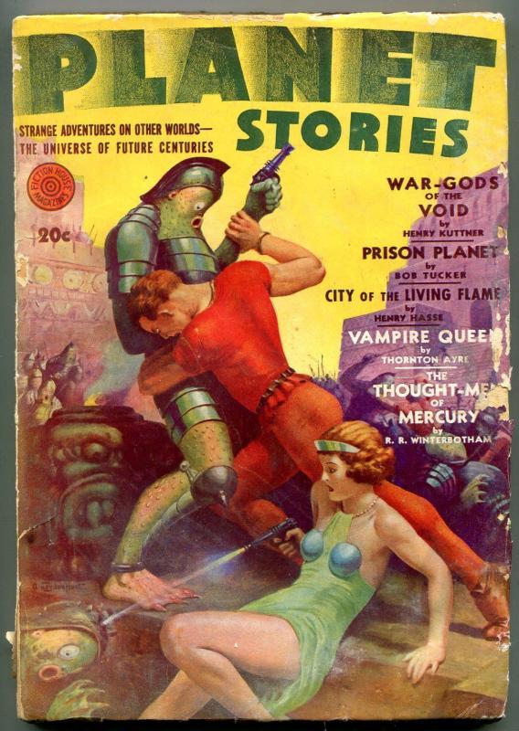Planet Stories Pulp Fall 1942- autographed Bob Tucker- Vampire Queen G/VG