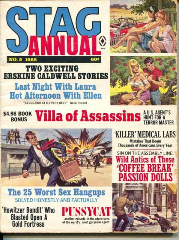 Stag Annual #5 1968-Atlas-early Pussycat-Bill Ward-cheesecake-pulp thrills-VG-