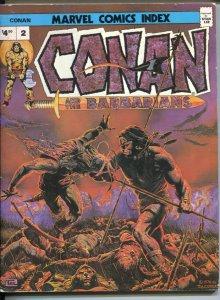 Marvel Comics Index #2 1976-Conan & The Barbarians-Kull-Magi-Tim Conrad-detai...