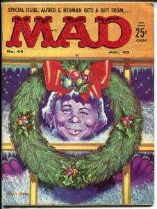 MAD #44-ALFRED E NEUMAN CHRISTMAS COVER-WOOD-ORLANDO-MARTIN-1959-vf