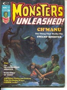 Monsters Unleashed #7 1974-Frankenstein-Al Williamson art-werewolf text story-VG