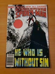 Spectacular Spider-Man #109 Newsstand Edition ~ NEAR MINT NM ~ 1985 Marvel