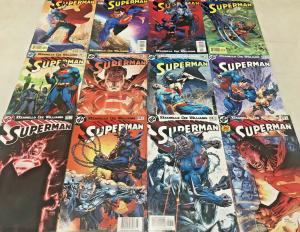 SUPERMAN#204-215 VF/NM LOT 2004 JIM LEE RUN DC COMIC