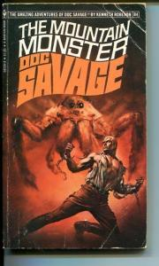 DOC SAVAGE-THE MOUNTAIN MONSTER-#84-ROBESON-G-BORIS VALLEJO COVER-1ST EDTION G