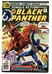 Jungle Action #22 comic book 1976- Black Panther vs. Klan cover VF+