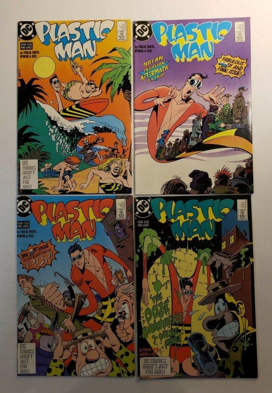PLASTIC MAN LIMITED SERIES  #1-4 COMPLETE SET 1988 DC COMICS VF/NM