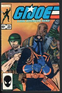 G.I. JOE #23-RARE SECOND PRINTING-HTF-1984-COBRA