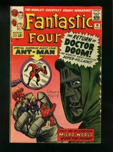 FANTASTIC FOUR #16 1963-DR DOOM-ANT MAN-MARVEL- VG