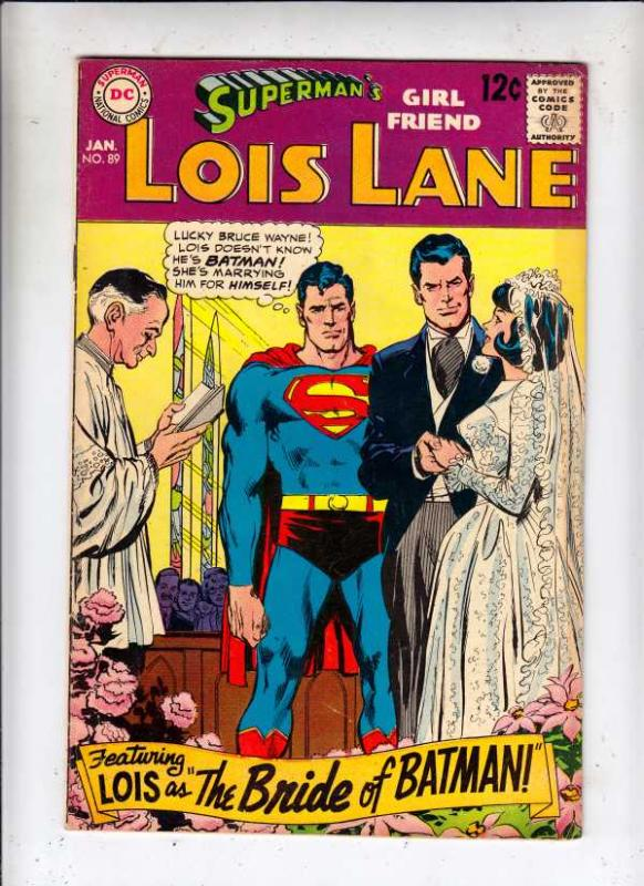 Superman's Girlfriend Lois Lane #89 (Jan-69) VF+ High-Grade Superman, Lois Lane