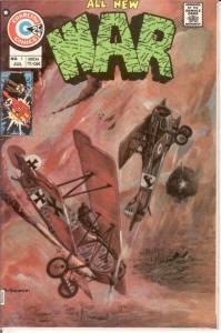 WAR (1975-1984 CHARLTON) 1 VF July 1975 COMICS BOOK