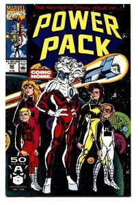 Power Pack #62 Mavel comic book-Rare LAST ISSUE-HTF