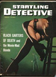 Startling Detective 2/1949-gga BLACK GARTERS OF DEATH pulp crime thrills-VG