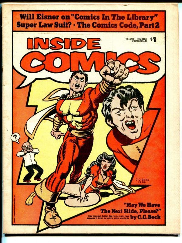 Inside Comics #41974-comics-code-Dr Wertham-Captain Marvel-CC Beck-FN