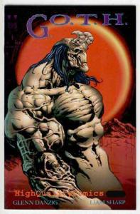 GOTH #1, VF/NM, Verotik, Liam Sharp, Glenn Danzig, G.O.T.H., 1995