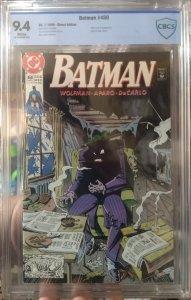 Batman #450 CBCS 9.4 Joker cover and appearance
