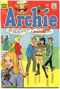 Archie #199 1970-Betty-Veronica-Jughead- chain belt gag cover G/VG