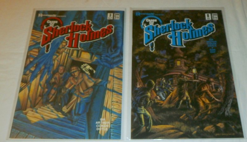 Cases of Sherlock Holmes (Renegade Press) #3,8 (set of 2) Dan Day