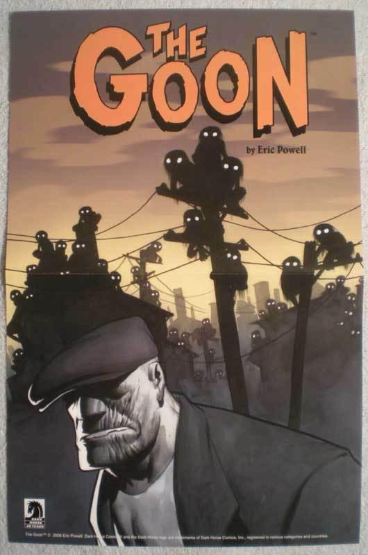 GOON Promo poster, Eric Powell, 11x17, 2006, Unused, more Promos in store