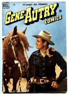 GENE AUTRY #36 1950-DELL-WESTERN-PHOTO COVERS-MOVIE-TV-VG