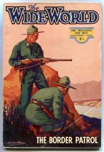 The Wide World Pulp September 1936- Border Patrol VG