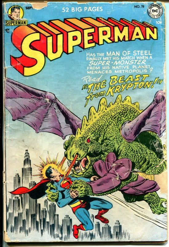 Superman #78 1952-DC-Lois Lane-Lana Lang-Beast From Krypton-FR
