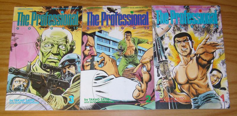 The Professional: Golgo 13 #1-3 VF/NM complete series VIZ MANGA based on game 2