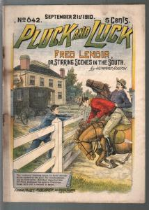 Pluck and Luck #642 9/21/1910-Tousey-Fred Lenoir-pulp fiction-FR/G