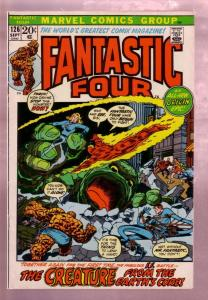 FANTASTIC FOUR #126 '72-MR FANTASTIC-TORCH-THING-ORIGIN FN