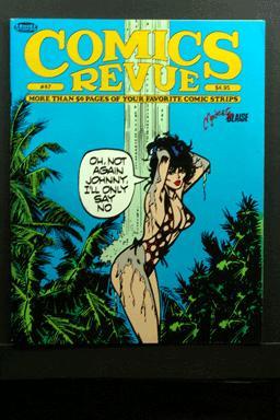 Comics Revue #47 1990 Modesty Blaise Cover