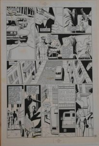 PAUL GULACY / DAN ADKINS original art, CODENAME DANGER  #4, pg 19, Pope plot