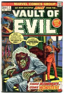 Vault of Evil #1 1973- Marvel Bronze Age Horror G