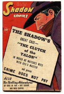 SHADOW COMICS v.5 #11 1946-SHADOW-DOC SAVAGE-comic book