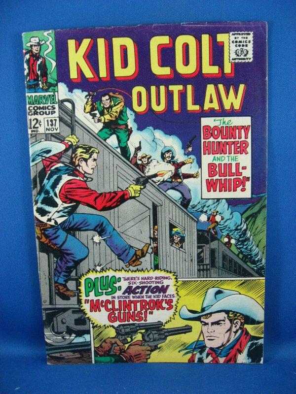 KID COLT OUTLAW 137 VG Fine 1967