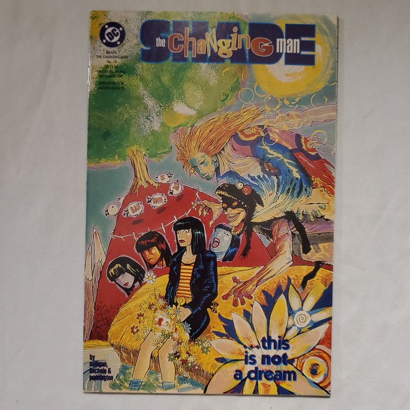 Shade the Changing Man 15 Very Fine/Near Mint Painted cover by Jamie Hewlett
