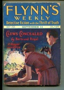 FLYNN'S WEEKLY DETECTIVE FICTION-SEPT 11 1926-PULP-CRIME-MYSTERY-AVENGER-good/vg