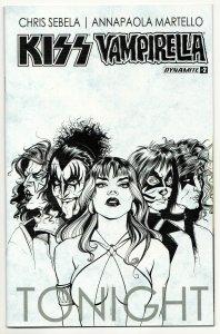Kiss Vampirella #2   1:10 B&W Variant (Dynamite, 2017) VF+