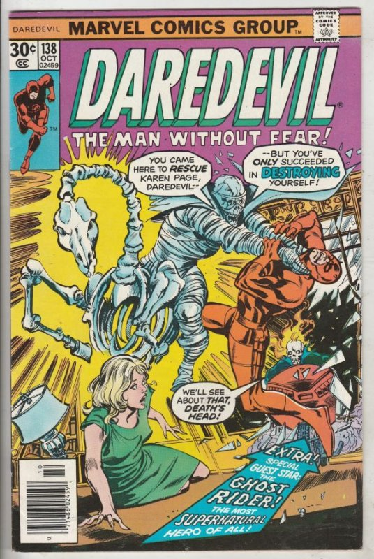 Daredevil #138 (Sep-76) VF/NM High-Grade Daredevil, Black Widow