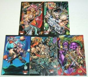Black Flag #0 & 1-4 VF/NM complete series - dan fraga - maximum press set lot
