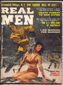 Real Men Magazine April 1961- Spicy Nazi torture cover- cheesecake