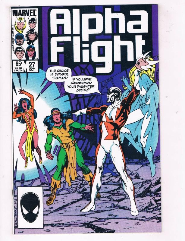 Alpha Flight #27 VF Marvel Comics Copper Age Comic Book Oct 1985 DE41 AD18
