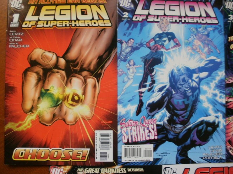 5 Near-Mint DC Comic: LEGION OF SUPER-HEROES 31 2 3 4 5 (2010) Saturn Queen Sun