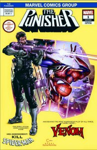The Punisher #1 Clayton Crain Variant  Spider-man variant️