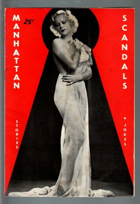 MANHATTAN SCANDALS #2 PULP-1940s-CHEESECAKE PHOTOS-RARE VG