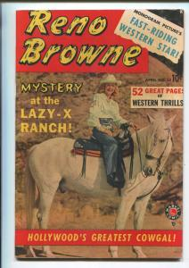 RENO BROWNE #50 1950-MARVEL-1ST ISSUE-WORLDS GREATEST COWGAL-JESSE JAMES-vf