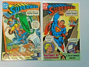 Superman Radio Shack #1 & #3 6.0 FN (1980)