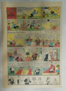 (7) Bringing Up Father Sundays by George McManus from 1951 Size: Tabloids